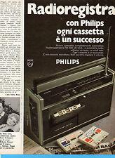 (AM) EPOCA974-PUBBLICITA'/ADVERTISING-1974-PHILIPS RADIOREGISTRATORE RR 200