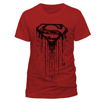 Superman Mens T-Shirt Top Licensed Merchandise Dripping S