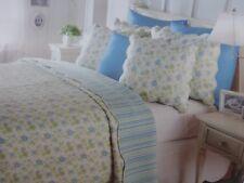 4 pc Ridgefield Home Twin Quilt, Sham, and Decorative Pillows Set NIP