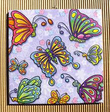 Dekofliese Geburtstag Danke Mitbringsel Geschenkidee Schmetterlinge (041)