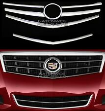 fit 2013-2014 Cadillac ATS CHROME Snap On Grille Overlay Front Grill Covers Trim