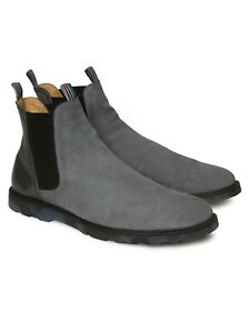 Robert Graham Brandon Leather Chelsea Boots, Charcoal