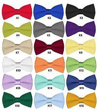 Boys Wedding Bowties 6 Pcs Bow ties for Kids Teens Solid Pretied Bowties