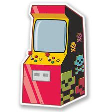 2 x Retro Arcade Sticker Car Bike iPad Laptop Decal Computer Games Console #4250