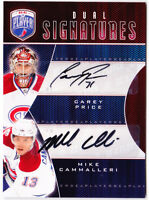 09-10 Be A Player Carey Price Mike Cammalleri Auto Dual Signatures 2009