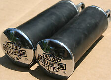 Used Original Harley Bar & Shield Wide Mount Foot Pegs Custom Chopper (U-675)