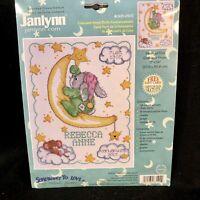 Janlynn Crescent Moon Birth Announcement New Counted Cross Stitch 11 x 14 NIP