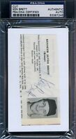 Ken Brett Signed Psa/dna Certified 3x5 Index Cut Autograph