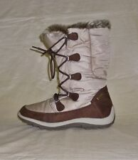 e868a2042e08 Stiefel Allwetter Winter TENTEX Flach in Beige Gr.37   UK 5