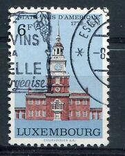 LUXEMBOURG,  1976, timbre 880, BICENTENAIRE ETATS-UNIS, PHILADELPHIE, oblitéré