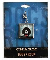 Dogs Rock Portie Charm with Lobster Clasp - Double-Sided