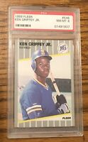 Ken Griffey Jr 1989 Fleer #548 Rookie PSA 8 NM-MT Seattle Mariners HOF