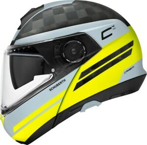 Schuberth C4 Pro Tempest Carbon Grey Yellow - Many sizes! - Fast& Free Shipping