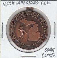 (N) Token - Michigan Wrestling Federation - 33 MM Copper