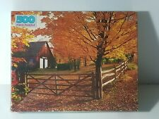 New 500 PIECE PUZZLE 15.5 X 18 BY Golden WESTERN PUBLISHING Vintage Fall Scene