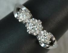 18 Carat White Gold and Diamond Trilogy Ring f0515