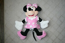 "Disney 18"" Minnie Mouse Stuffed Animal Plush Pink Polka Dot Dress Pink Shoes"