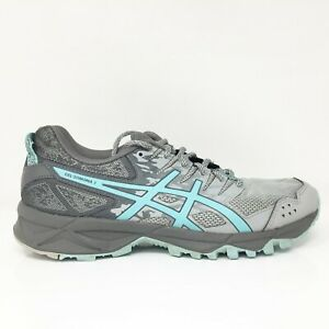 Asics Womens Gel Sonoma 3 T774N Gray Running Shoes Lace Up Low Top Size 8