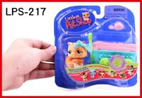 Boxed Littlest Pet Shop toys old LPS cat 217 with Accessories lovely girls gifts