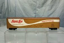 Tyco HO Scale Sara Lee 62 Foot Double Door Freight Train Box Car Advertising