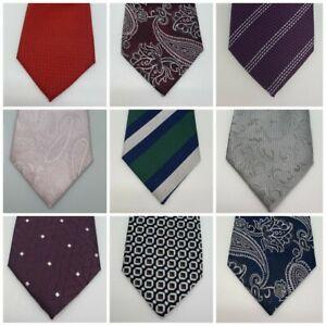 Men's Ties Plain Silk Colour Slim Skinny Smart Party Wedding Thin Neck Tie