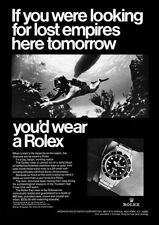 """1967 Rolex """"Submariner"""" """"Looking For Lost Empires"""" REPRODUCTION Print Ad"""