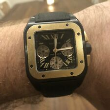 Cartier Santos XL CHRONOGRAPH 100  ROSE GOLD AND Carbon Titanium