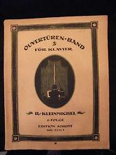 Partition Ouverturen Band fur Klavier R Kleinmichel Schott Nr 5311