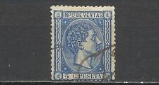 62-FISCAL ALFONSO XII AÑO 1872 IMPUESTO DE VENTAS