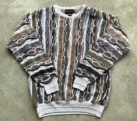 Vtg 90s Coogi Style Sweater Vintage Croft And Barrow Mens Small Cosby Biggie