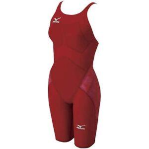 MIZUNO N2MG6201 FINA Womens Swimsuit L GX-SONIC III ST Red Fast Ship Japan EMS