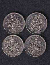 lot of Canadian 50 cent (half dollar) 1968, 1969, 1970, 1971