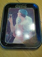 Dh227 original coca cola tray flapper gal with pocket watch