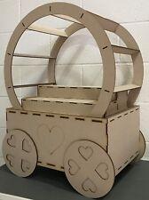 Y201 paquete plano Trolley XL Candy carro grande boda sin pintar Dulce Soporte de exhibición