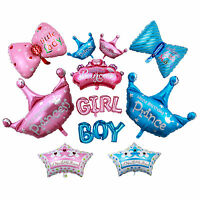 Baby/Boy/Girl Prince/Princess Crown Birth Baby shower Foil Balloons Party Decor