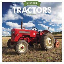 Vintage Tractor Oficial 2019 Calendario de Pared Nuevo y Sellado