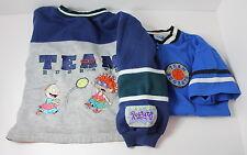 Team Rugrats Vintage Lot of 2 Children's Size 7 Sweatshirt + Shirt Nickelodeon