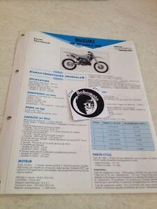 Suzuki RM125 RF14A 92N 93P RM 125 Ficha Técnica Moto a Distancia Forestay