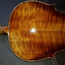 Antique Fine Old German Violin c1880 flamed tigerstripe back inlaid purfling 4/4