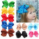 20pcs Cute Baby Girls Kid Boutique Big Bow Hair Clips Grosgrain Ribbon Hairpin