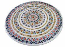 "48"" Marble Coffee Dining Table Top Inlay Pietra Dura Handmade Home Decor"