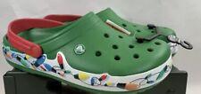 Crocs Crocband Holiday Lights Clog Kelly Green Men's 9, Women's 11 NWT RARE!
