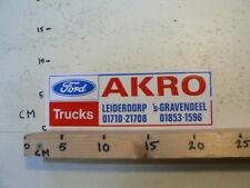 STICKER,DECAL FORD TRUCKS AKRO LEIDERDORP 'S-GRAVENDEEL LARGE NOT 100 %  OK