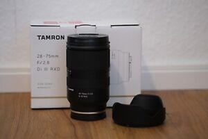 Tamron 28-75mm f/2.8 DI III RXD Sony E-Mount Objektiv - Schwarz - OVP