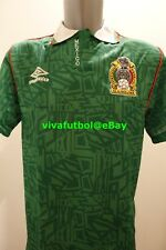 NEW Umbro Mens Seleccion Mexicana Futbol 92/93 Mexico Home Soccer Jersey MEDIUM
