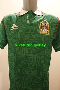 NEW Umbro Mens Seleccion Mexicana Futbol 92/93 Mexico Home Soccer Jersey SMALL S