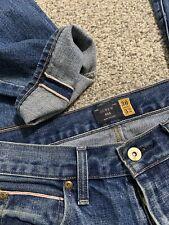 Men's J.CREW 484 SELVEDGE SLIM JEANS Size 30 X 32 Designer Mens Jeans 30/32