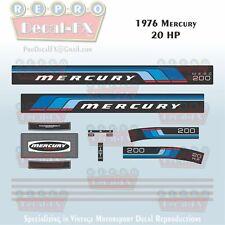 1999-04 Mercury 225HP EFI  Custom Smoke Grey 15pc Repro Decals Outboard Vinyl