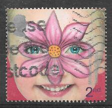 GB Gran Bretagna 2001 MILLENNIUM Face Painting TIMBRO 2nd CLASSE-vedi scansione