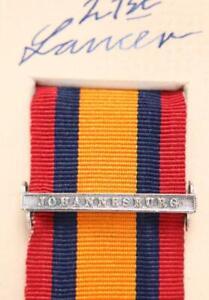 Qsa Reines Afrique Du Sud Médaille Ruban Barre Fermoir Johannesburg Boer Guerre